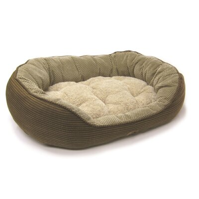 """Pillow Soft Daydreamer Bolster Dog Bed Size: Large (32"""" L x 25"""" W), Color: Brown"""