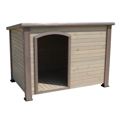 Outback Log Cabin Dog House Size: 22.2 H x 24.6 W, Color: Taupe