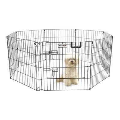 Orson Ultimate Exercise Pen with Door in Black Size: 24 H