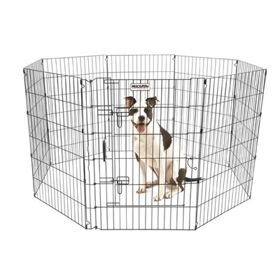 Orson Ultimate Exercise Pen with Door in Black Size: 30 H