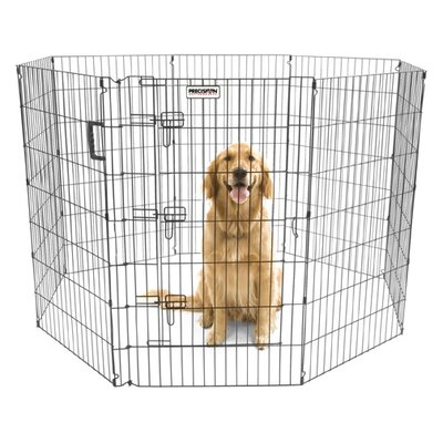 Orson Ultimate Exercise Pen with Door in Black Size: 42 H