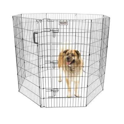 Orson Ultimate Exercise Pen with Door in Black Size: 48 H