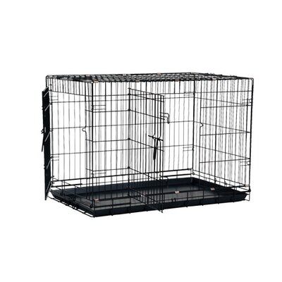 "Precision Pet Great Crate Two-Door Dog Crate with Divider Panel in Black - Size: Medium (30"" L x 19"" W x 22"" H) at Sears.com"