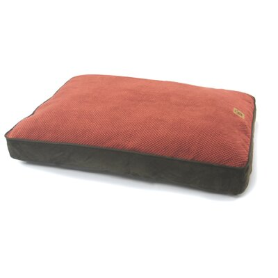 Gusset Floor Pillow Dog Bed in Rust / Chocolate Size: Large (40 x 30)