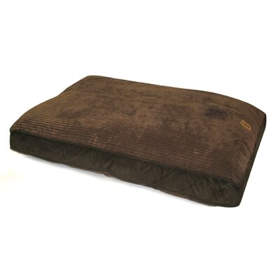 """Gusset Suede Dog Pillow Size: Large (40"""" L x 30"""" W), Color: Chocolate / Chocolate"""