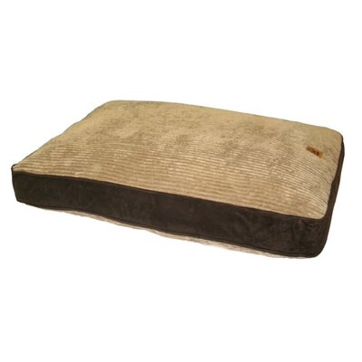 Gusset Suede Pillow Dog Bed in Beige / Chocolate Size: Large (40 x 30)