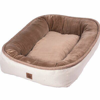 Snoozzy Rustic Elegance Low Bumper Bed Size: Large (36 L x 27 W), Color: Buff