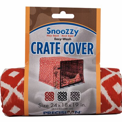 Snoozzy Ikat Crate Cover Color: Orange