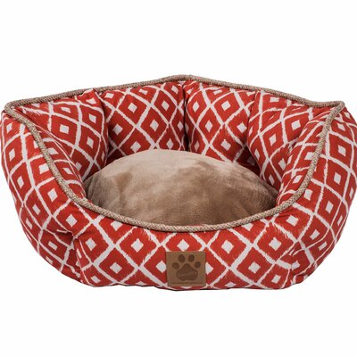 Snoozzy Ikat Clamshell Bed Color: Orange