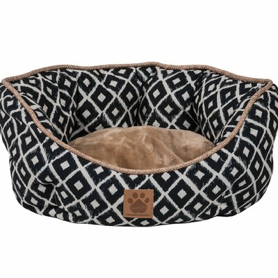 Maxine Ikat Clamshell Bed Color: Navy