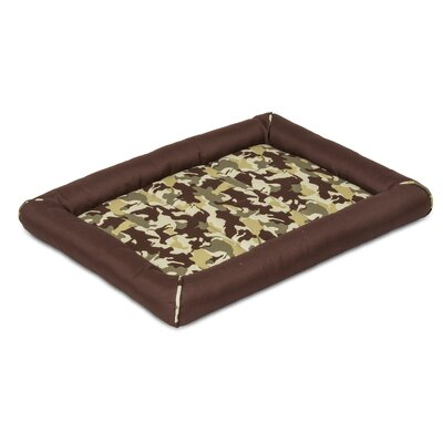 Snoozzy Durable Dog Camo Carte Mat Size: Mini (23 L x 16 W), Color: Brown