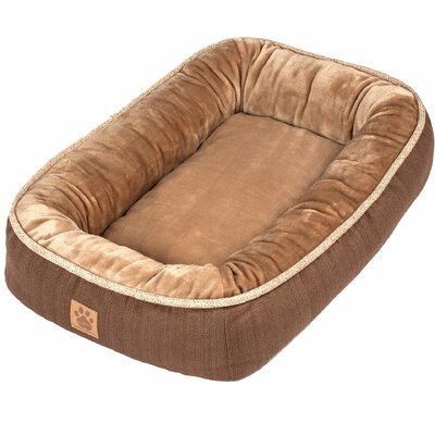 Snoozzy Rustic Elegance Low Bumper Bed Size: Small (28 L x 21 W), Color: Brown