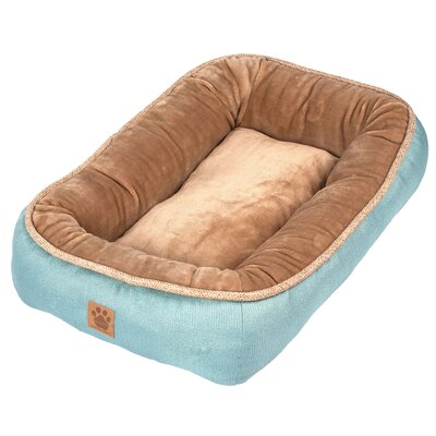 Snoozzy Rustic Elegance Low Bumper Bed Color: Teal, Size: Small (28 L x 21 W)