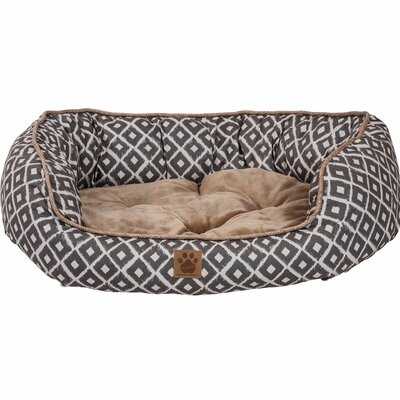 Maggiemae Ikat Daydreamer Bed Size: Small (26 L x 22 W), Color: Gray