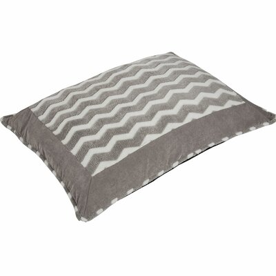 Snoozzy Hip as a Zig Zag Softie Pillow Color: Gray / White