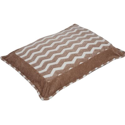 Snoozzy Hip as a Zig Zag Softie Pillow Color: Tan / White