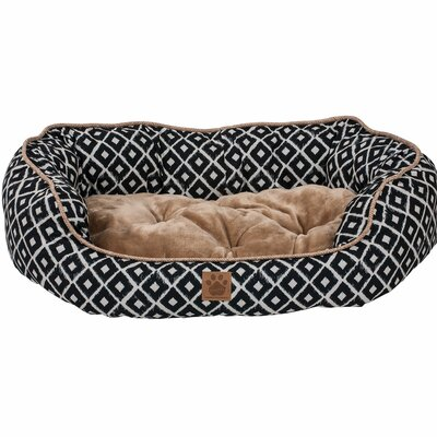 Snoozzy Ikat Daydreamer Bed Size: Large (32 L x 25 W), Color: Navy