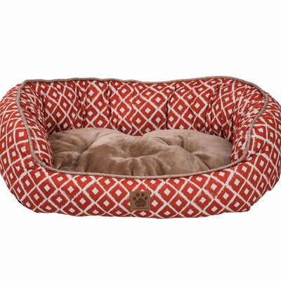 Snoozzy Ikat Daydreamer Bed Size: Small (26 L x 22 W), Color: Orange