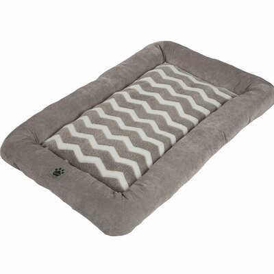 Snoozzy Hip as a Zig Zag Low Bumper Mat Color: Gray, Size: Small (25 L x 20 W)