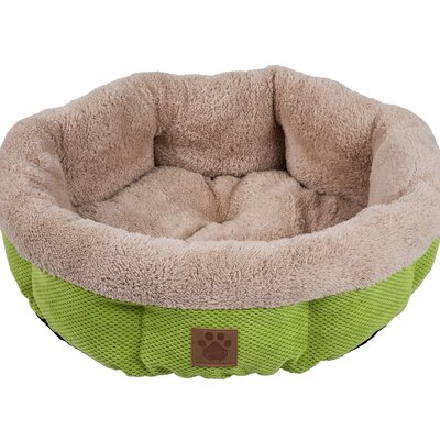 Snoozzy Mod Chic Round Shearling Bed Color: Green