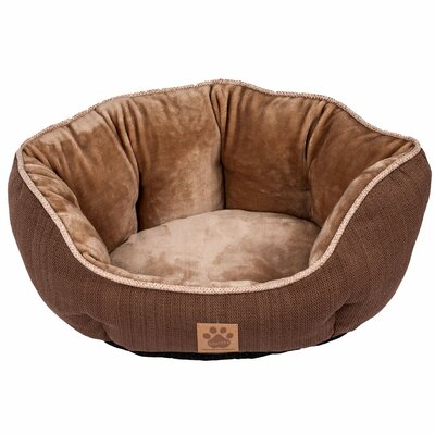 Maxine Rustic Elegance Clamshell Bed Color: Brown