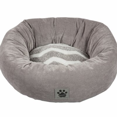 Snoozzy Hip as a Zig Zag Shearling Round Bed Color: Gray / White