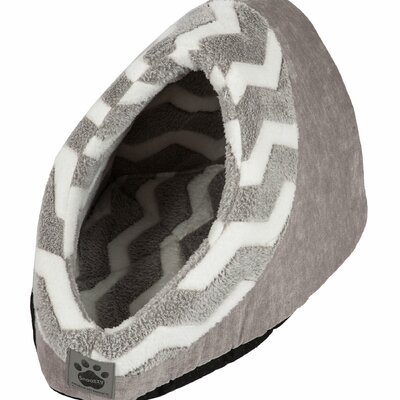 Snoozzy Hip as a Zig Zag Hide and Seek Bed Color: Gray / White