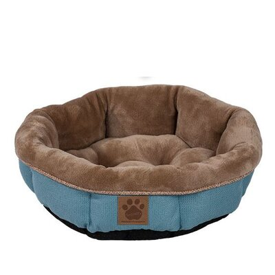 Snoozzy Rustic Elegance Round Shearling Bed Color: Teal