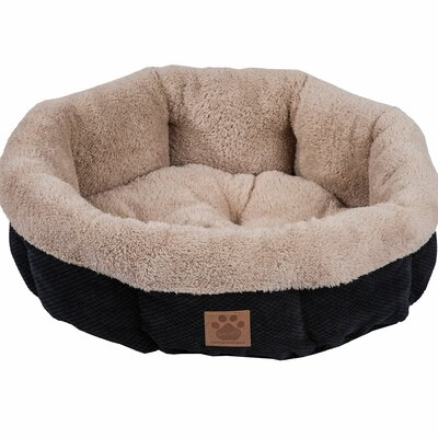 Snoozzy Mod Chic Round Shearling Bed Color: Black