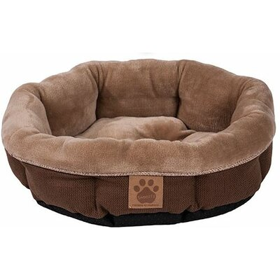 Maxine Rustic Elegance Round Shearling Bed Color: Brown