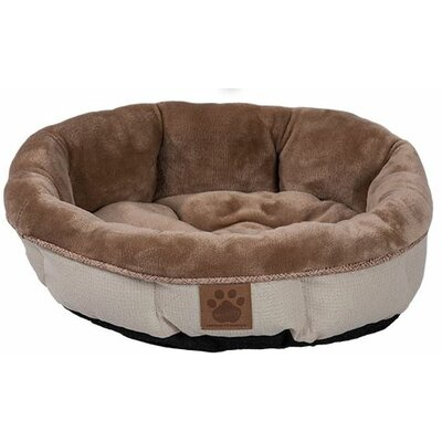 Maxine Rustic Elegance Round Shearling Bed Color: Buff