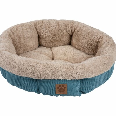 Snoozzy Mod Chic Round Shearling Bed Color: Teal