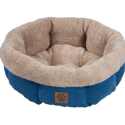 Snoozzy Mod Chic Round Shearling Bed Color: Blue