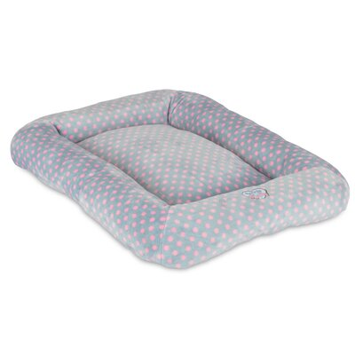 Snoozzy Polka Dot Baby Bumper Bed Color: Pink