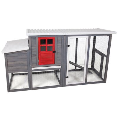 Clinton Door Hen House II Chicken Coop with Roosting Bar