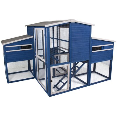 Dual Chicken Coop with Nesting Box