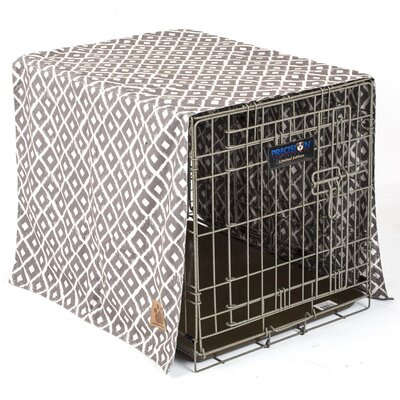 Snoozzy Ikat Crate Cover Color: Gray