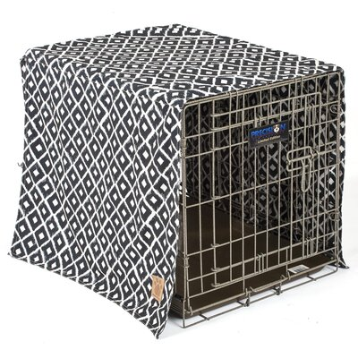 Snoozzy Ikat Crate Cover Color: Navy