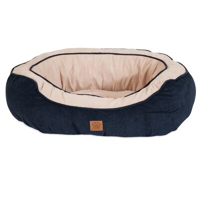 Chevron Gusset Daydreamer Bolster Dog Bed Size: 25 W x 32 D x 10.5 H
