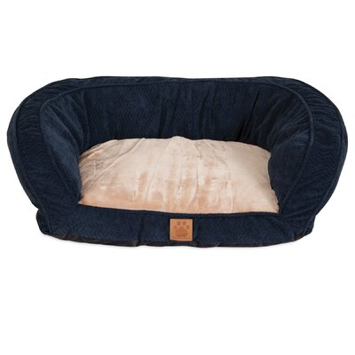 Chevron Gusset Couch Daydreamer Bolster Dog Bed Size: 25 W x 32 D x 10.5 H