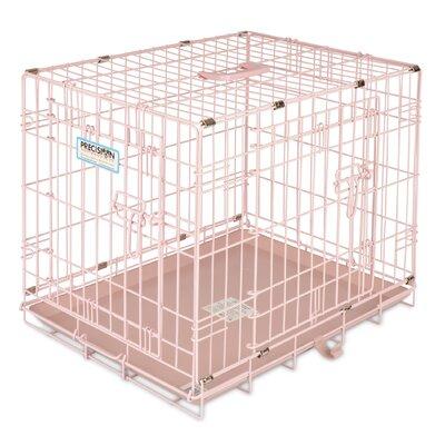 Provalu 2 Door Pet Crate Color: Pink
