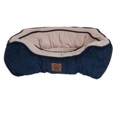 Modern Daydreamer Bolster Dog Bed Size: 19 W x 21 D x 7 H, Color: Navy