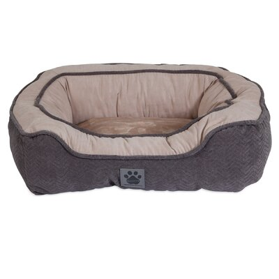 Modern Daydreamer Bolster Dog Bed Color: Gray, Size: 19 W x 21 D x 7 H
