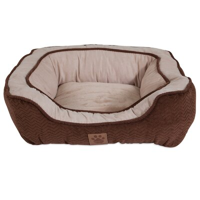 Modern Daydreamer Bolster Dog Bed Color: Chocolate, Size: 19 W x 21 D x 7 H