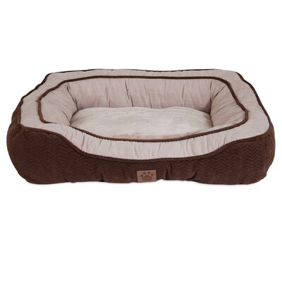 Candace Modern Daydreamer Bolster Dog Bed Size: 23 W x 28 D x 7 H, Color: Chocolate