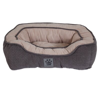 Modern Daydreamer Bolster Dog Bed Size: 17 W x 19 D x 6 H, Color: Gray