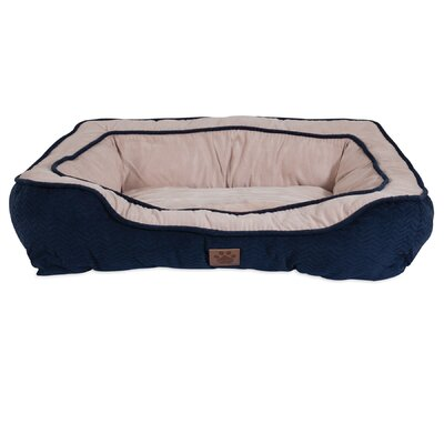Modern Daydreamer Bolster Dog Bed Size: 23 W x 28 D x 7 H, Color: Navy