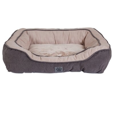 Candace Modern Daydreamer Bolster Dog Bed Size: 23 W x 28 D x 7 H, Color: Gray
