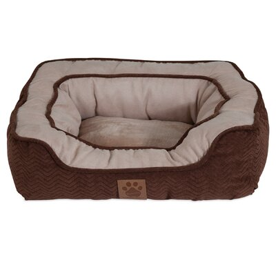 Candace Modern Daydreamer Bolster Dog Bed Size: 17 W x 19 D x 6 H, Color: Chocolate