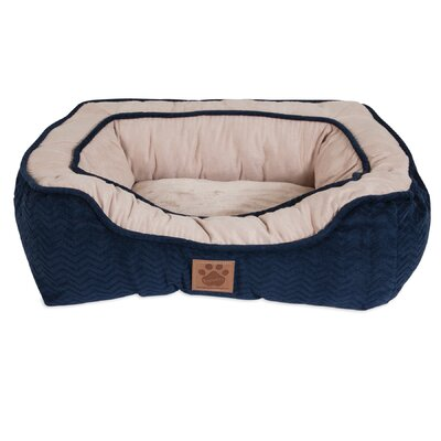 Candace Modern Daydreamer Bolster Dog Bed Size: 17 W x 19 D x 6 H, Color: Navy